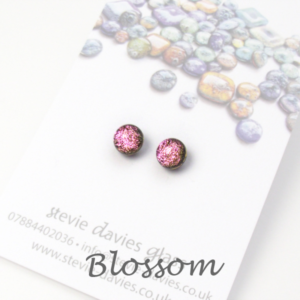 Blossom mini stud earrings by Stevie Davies