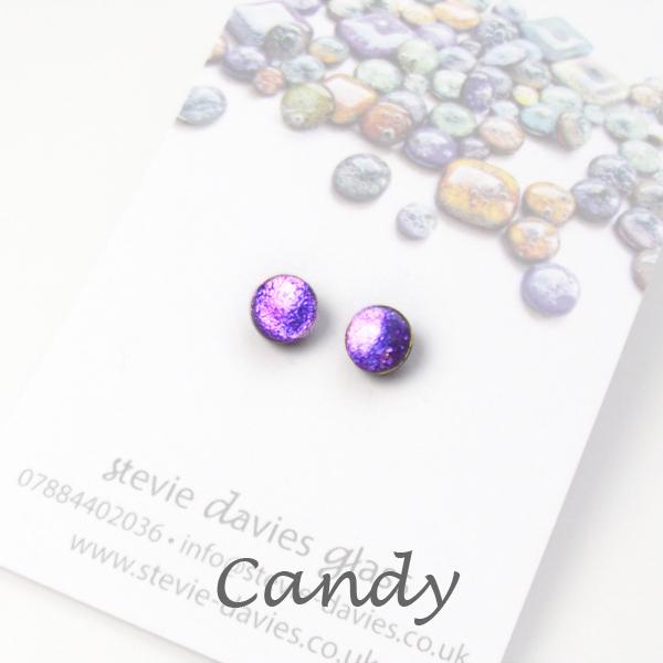 Candy mini stud earrings by Stevie Davies