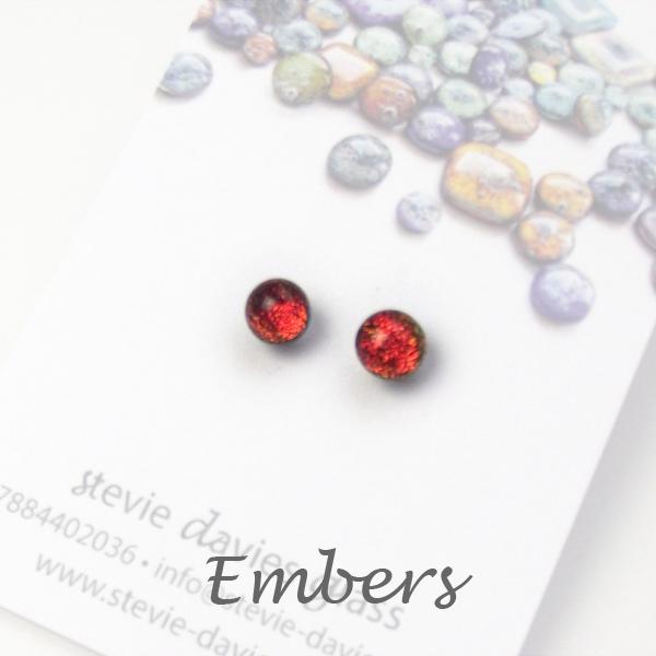 Embers mini stud earrings by Stevie Davies
