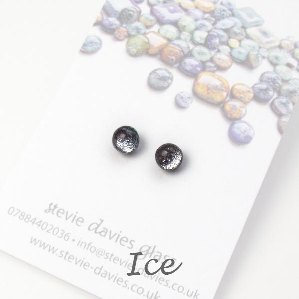 Ice mini stud earrings by Stevie Davies