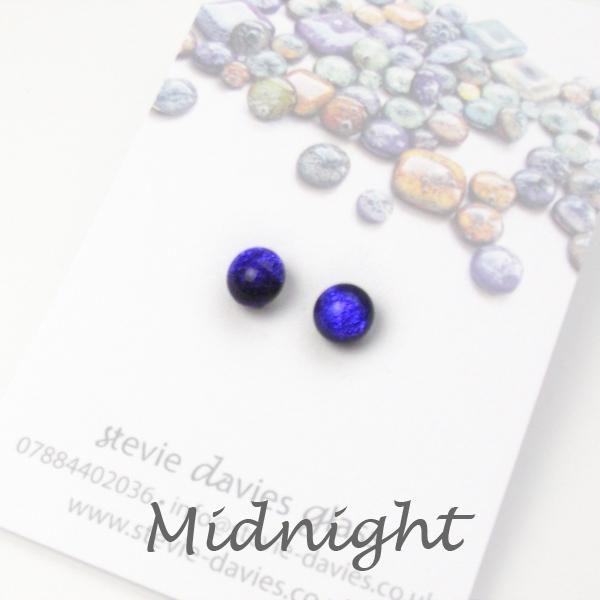 Midnight mini stud earrings by Stevie Davies