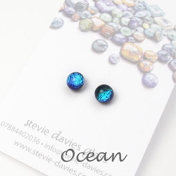 Ocean mini stud earrings by Stevie Davies