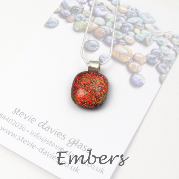 Ebers dichroic small pendant by Stevie Davies