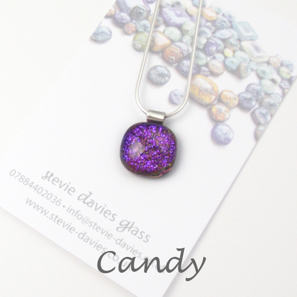 Candy dichroic small pendant by Stevie Davies