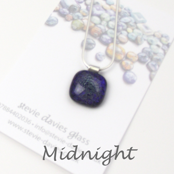 Midnight dichroic small pendant by Stevie Davies