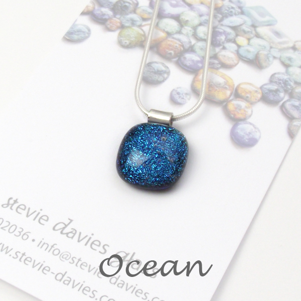 Ocean dichroic small pendant by Stevie Davies