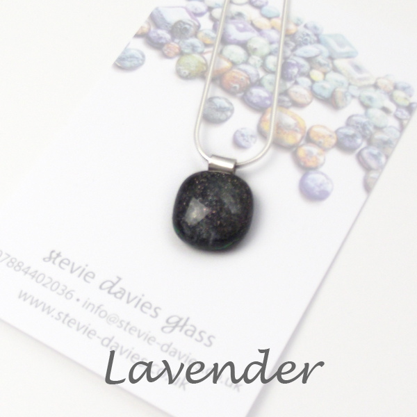 Lavender dichroic small pendant by Stevie Davies