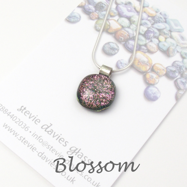 Blossom dichroic small pendant by Stevie Davies