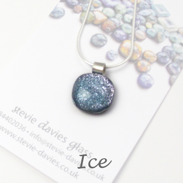 Ice dichroic small pendant by Stevie Davies