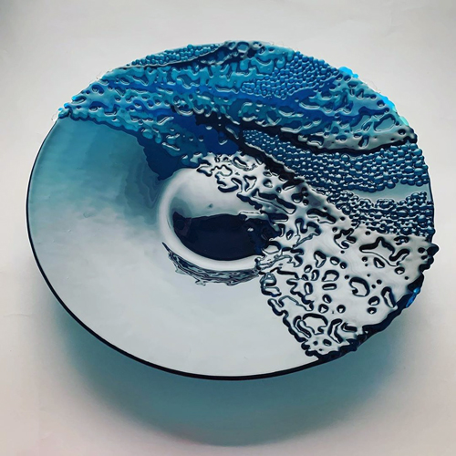 Interfused Glass art by Stevie Davies