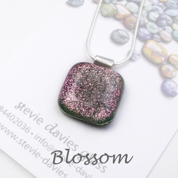 Blossom dichroic glass large pendant by Stevie Davies