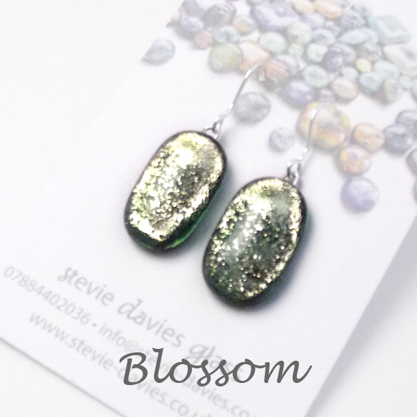 Blossom medium drop earrings by Stevie Davies