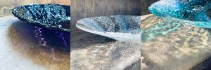 Glass bowls by Stevie Davies