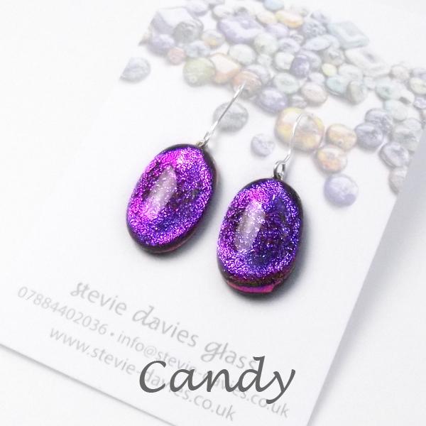 Candy medium drop earrings by Stevie Davies
