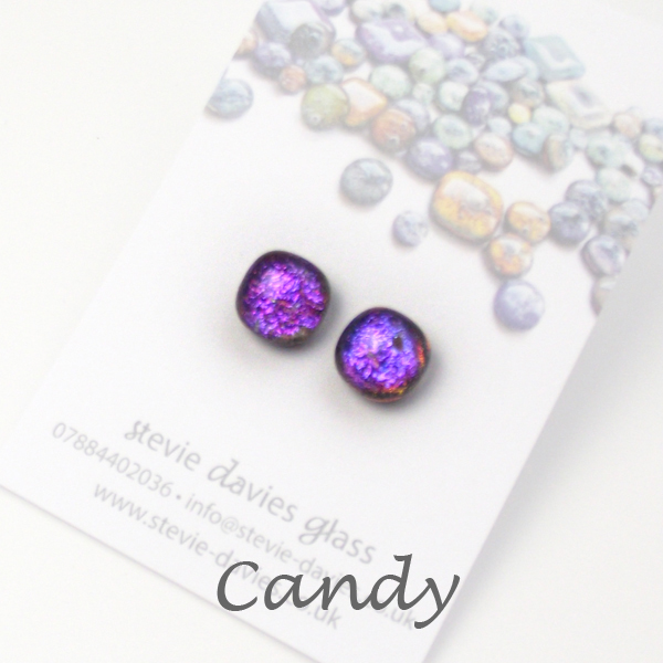 Candy stud earrings by Stevie Davies
