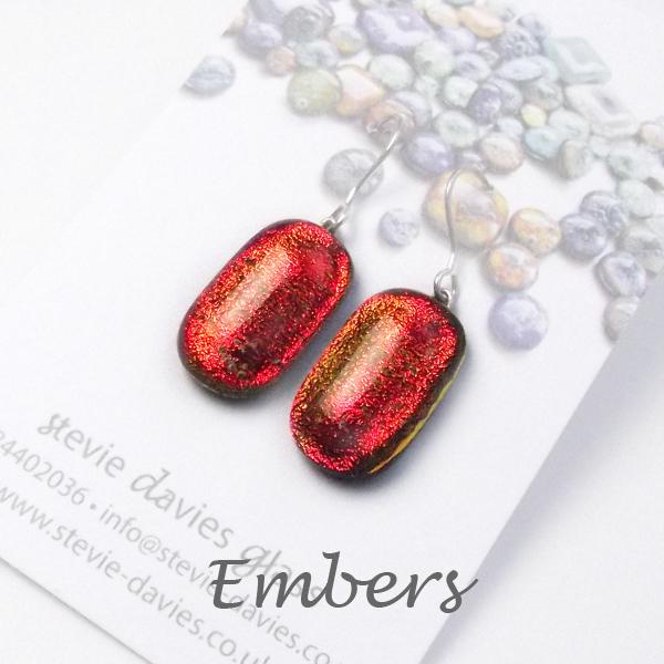 Embers medium drop earrings by Stevie Davies