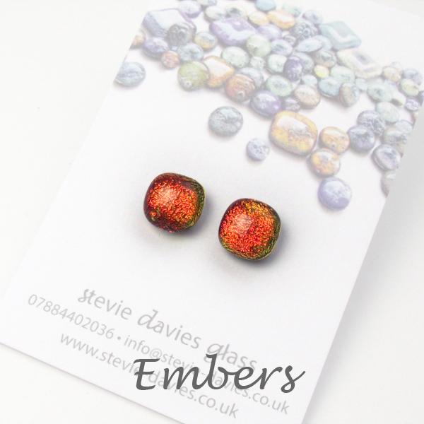Embers stud earrings by Stevie Davies