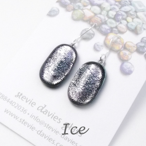 Ice medium drop earrings by Stevie Davies