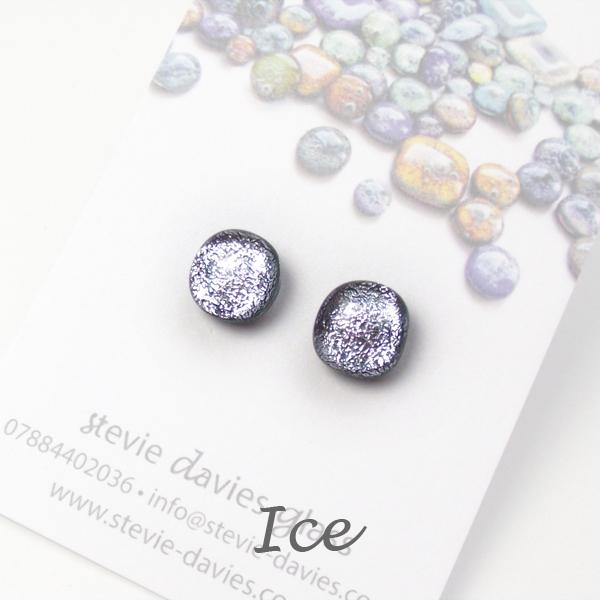 Ice stud earrings by Stevie Davies