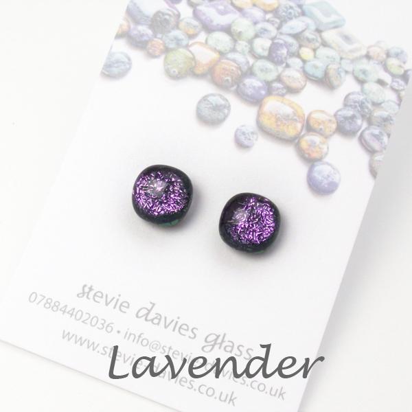 Lavender stud earrings by Stevie Davies