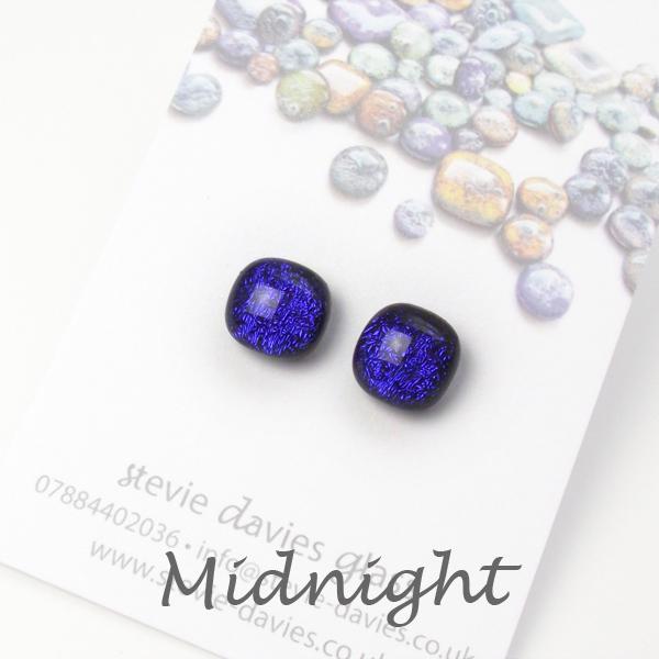 Midnight stud earrings by Stevie Davies