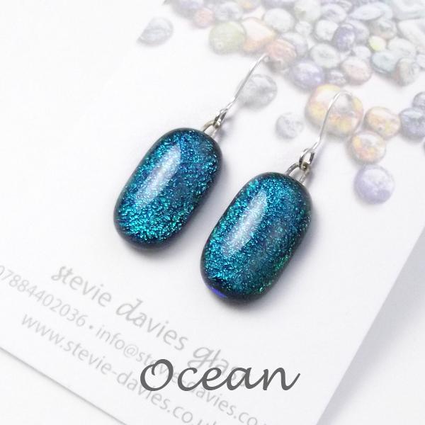 Ocean medium drop earrings by Stevie Davies