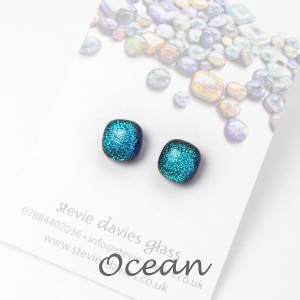Ocean stud earrings by Stevie Davies