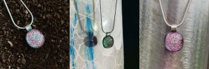 STevie Davies Glass pendant necklaces