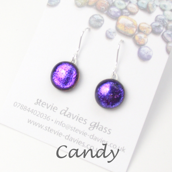 Candy small drop earrings by Stevie Davies