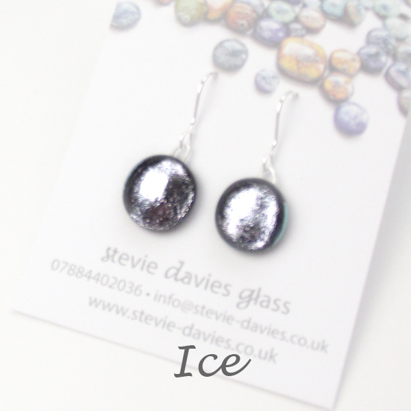 Ice small drop earrings by Stevie Davies