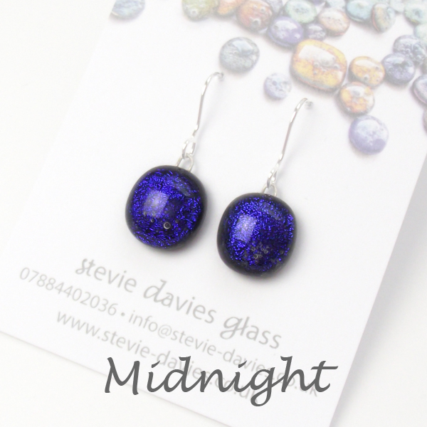 Midnight small drop earrings by Stevie Davies