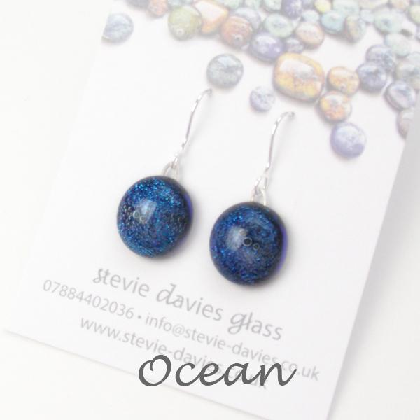 Ocean small drop earrings by Stevie Davies