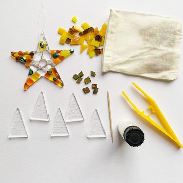 Small stars craft kit by Stevie Davies Glass