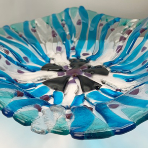 Finished student work from Stevie Davies Glass Workshop