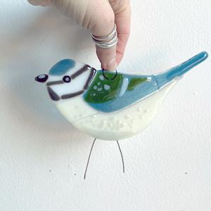 Glass bird made on a Stevie Davies workshop