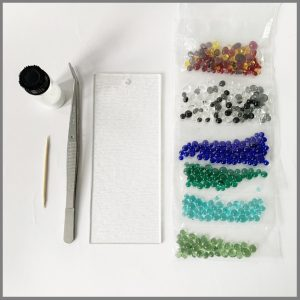 Photo of materials for frit balls kit from Stevie Davies