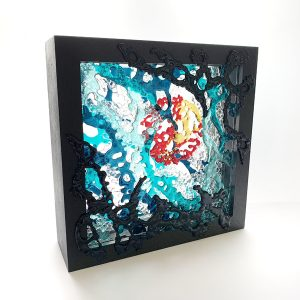 Framed glass artwork commission studio shot