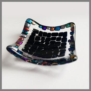 Photo of finished dish from Stevie Davies Trinket Dish kit