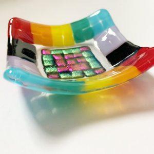 Stevie Davies Glass kits rainbow dish