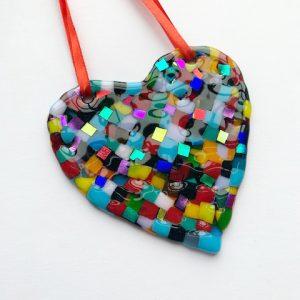 Stevie Davies Glass kits rainbow mini mosaic style heart