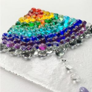 Stevie Davies Glass kits rainbow frit balls rain