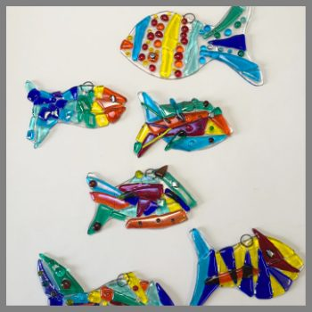 Finished fish from Stevie Davies Glass Kit