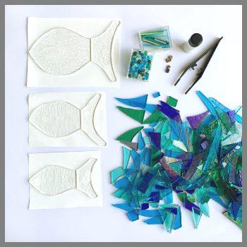 Kit contents for stevie davies glass fabulous fish kit